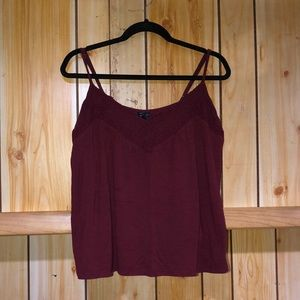 SALE American Eagle Outfitters maroon blouse